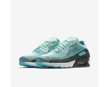 Nike Air Max 90 Ultra 2.0 Flyknit Mens Shoes Hyper Turquoise/Vintage Green/Anthracite/Hyper Turquoise Style: 875943-301