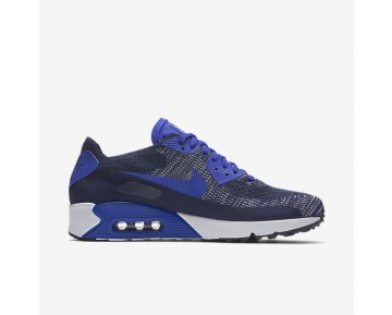 Nike Air Max 90 Ultra 2.0 Flyknit Mens Shoes College Navy/White/Black/Paramount Blue Style: 875943-400