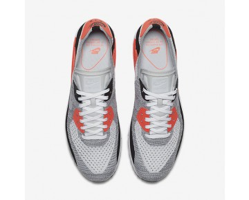 Nike Air Max 90 Ultra 2.0 Flyknit Mens Shoes Red/Bright Crimson/Black/Wolf Grey Style: 875943-100