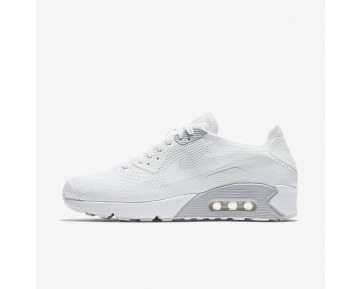 Nike Air Max 90 Ultra 2.0 Flyknit Mens Shoes White/Pure Platinum/White/White Style: 875943-101