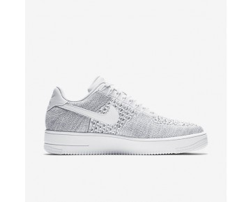 Nike Air Force 1 Flyknit Low Mens Shoes Cool Grey/White/White Style: 817419-006