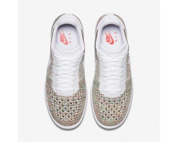 Nike Air Force 1 Flyknit Low Mens Shoes Yellow Strike/Bright Crimson/White/White Style: 817419-701