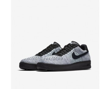 Nike Air Force 1 Flyknit Low Mens Shoes Glacier Blue/White/Deep Royal Blue/Black Style: 817419-401