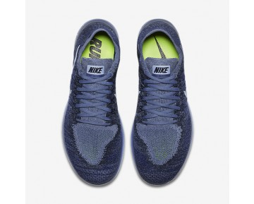 Nike Free Rn Flyknit 2017 Running Mens Shoes Ocean Fog/College Navy/Deep Royal Blue/Cirrus Blue Style: 880843-404