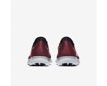 Nike Free Rn Flyknit 2017 Running Mens Shoes Black/Total Crimson/University Red/Pure Platinum Style: 880843-006