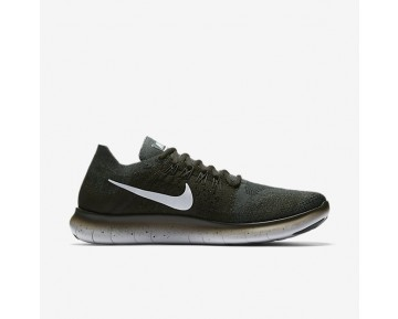 Nike Free Rn Flyknit 2017 Running Mens Shoes Vintage Green/Sequoia/Pure Platinum/Pure Platinum Style: 880843-300