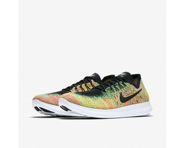 Nike Free Rn Flyknit 2017 Running Mens Shoes Multi-Colour/Blue Lagoon/Hot Punch/Black Style: 880843-005