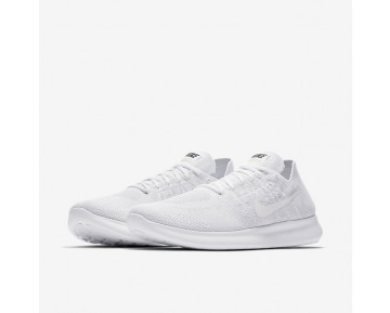 Nike Free Rn Flyknit 2017 Running Mens Shoes White/Pure Platinum/Black/White Style: 880843-100