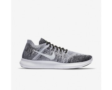 Nike Free Rn Flyknit 2017 Running Mens Shoes Black/Volt/White Style: 880843-003