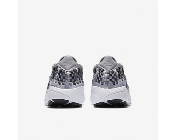 Nike Air Footscape Woven Nm Mens Shoes Wolf Grey/Dark Grey/White/Black Style: 875797-004