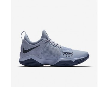 Nike Pg1 Basketball Mens Shoes Glacier Grey/Armoury Blue/Racer Pink/Midnight Navy Style: 878627-044