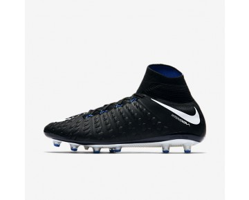 Nike Hypervenom Phantom 3 Df Ag Artificial-Grass Football Boot Mens Shoes Black/Game Royal/White Style: 852550-002