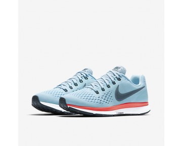 Nike Air Zoom Pegasus 34 Running Mens Shoes Ice Blue/Bright Crimson/White/Blue Fox Style: 880555-404