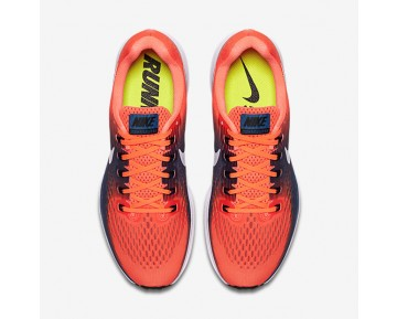 Nike Air Zoom Pegasus 34 Running Mens Shoes Hyper Orange/Industrial Blue/Chlorine Blue/Black Style: 880555-800
