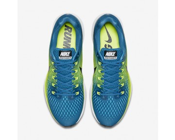 Nike Air Zoom Pegasus 34 Running Mens Shoes Industrial Blue/Volt/Chlorine Blue/Black Style: 880555-400