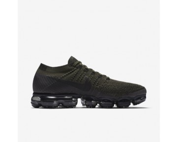 Nike Air Vapormax Flyknit Running Mens Shoes Cargo Khaki/Medium Olive/Dark Grey/Black Style: 849558-300