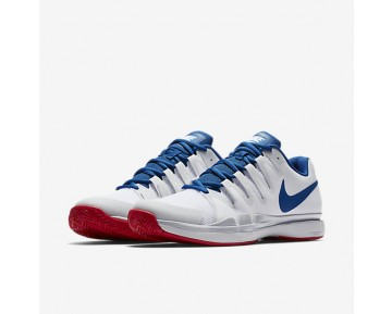 Nikecourt Zoom Vapor 9.5 Tour Tennis Mens Shoes White/Pure Platinum/Action Red/Blue Jay Style: 631458-114