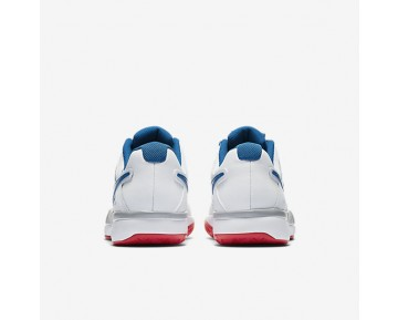 Nikecourt Air Vapor Advantage Tennis Mens Shoes White/Wolf Grey/Action Red/Blue Jay Style: 599359-109