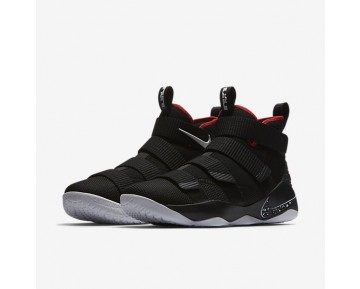 Lebron Soldier Xi Basketball Mens Shoes Black/University Red/White Style: 897644-002