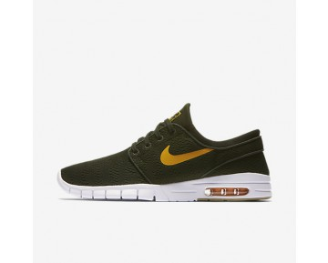 Nike Sb Stefan Janoski Max Skateboarding Mens Shoes Sequoia/Gum Light Brown/Circuit Orange Style: 631303-389