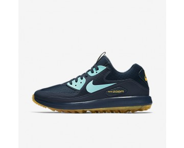 Nike Air Zoom 90 It Golf Mens Shoes Armoury Navy/Laser Orange/Light Aqua Style: 844569-400