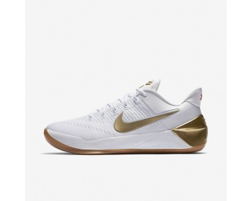 Kobe A.D. Basketball Mens Shoes White/Metallic Gold/Metallic Gold Style: 852425-107