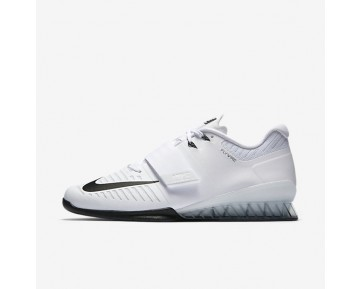 Nike Romaleos 3 Weightlifting Mens Shoes White/Volt/Black Style: 852933-100