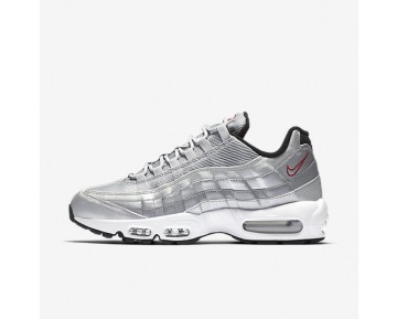 Nike Air Max 95 Premium QS Mens Shoes Metallic Silver/Black/White/Varsity Red Style: 918359-001