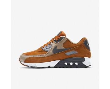 Nike Air Max 90 Premium Mens Shoes Desert Ochre/Linen/Wolf Grey/Dark Grey Style: 700155-700