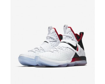 LeBron XIV Mens Shoes White/University Red/Black Style: 852405-103