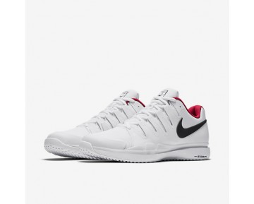 NikeCourt Zoom Vapor 9.5 Tour Grass Mens Shoes White/Siren Red/Metallic Dark Grey Style: 649084-106