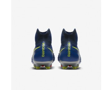 Nike Magista Obra II FG Mens Shoes Deep Royal Blue/Total Crimson/Bright Citrus/Chrome Style: 844595-409