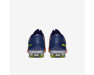 Nike Mercurial Vapor XI FG Mens Shoes Deep Royal Blue/Total Crimson/Bright Citrus/Chrome Style: 831958-408