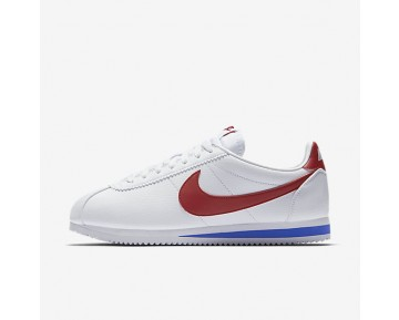 Nike Classic Cortez Leather Mens Shoes White/Varsity Royal/Varsity Red Style: 749571-154
