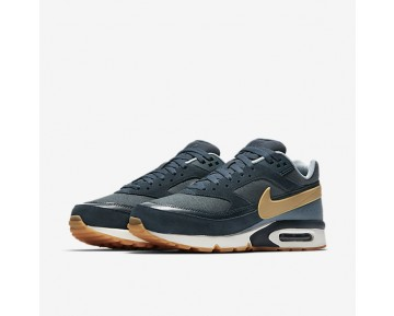 Nike Air Max BW Premium Mens Shoes Armoury Navy/Blue Fox/Blue Grey/Gum Yellow Style: 819523-401