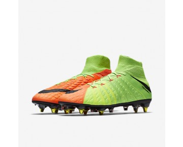 Nike Hypervenom Phantom 3 DF SG-PRO Anti-Clog Mens Shoes Electric Green/Hyper Orange/Volt/Black Style: 899982-306