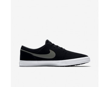 Nike SB Solarsoft Portmore II Mens Shoes Black/White/Dark Grey Style: 880266-001