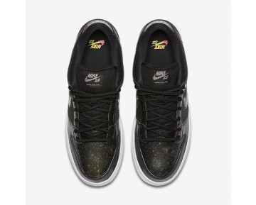 Nike SB Dunk Low QS Mens Shoes Black/White/Metallic Cool Grey/Black Style: 883232-001