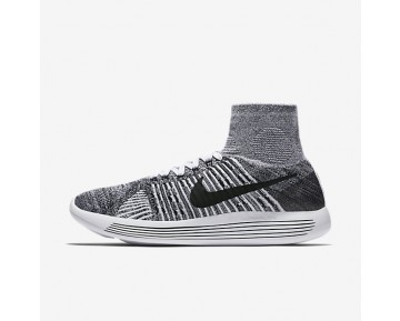 Nike LunarEpic Flyknit Mens Shoes White/Black Style: 818676-101