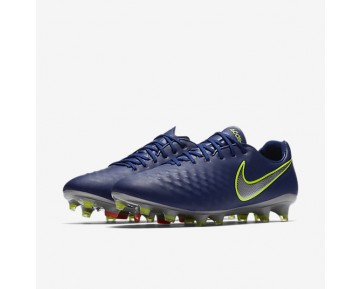 Nike Magista Opus II Mens Shoes Deep Royal Blue/Total Crimson/Bright Citrus/Chrome Style: 843813-409