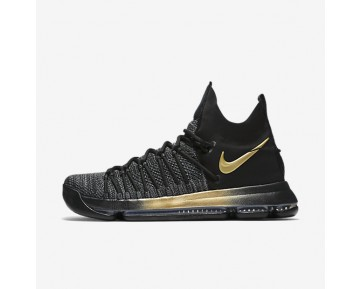 Nike Zoom KD 9 Elite Mens Shoes Black/Blue Fury/Tour Yellow Style: 878637-007