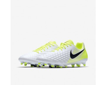 Nike Magista Onda II FG Mens Shoes White/Volt/Pure Platinum/Black Style: 844411-109