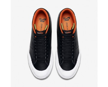Nike SB Blazer Mid XT 'Donny' Mens Shoes Black/White/Safety Orange/Metallic Silver Style: 876872-001