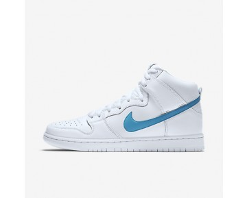 Nike SB Dunk High Pro 'Mulder' Mens Shoes White/White/White/Orion Blue Style: 881758-141
