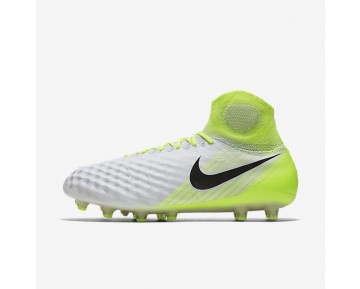 Nike Magista Obra II AG-PRO Mens Shoes White/Volt/Pure Platinum/Black Style: 844594-109