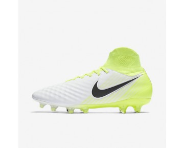 Nike Magista Orden II FG Mens Shoes White/Volt/Pure Platinum/Black Style: 843812-109