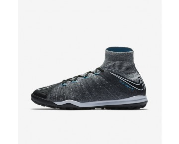 Nike HypervenomX Proximo II Dynamic Fit TF Mens Shoes Wolf Grey/Chlorine Blue/Black Style: 852576-004