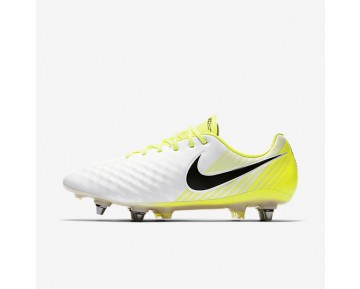 Nike Magista Opus II SG-PRO Mens Shoes White/Volt/Wolf Grey/Black Style: 844597-107