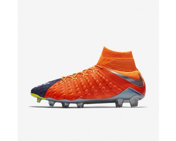 Nike Hypervenom Phantom III Dynamic Fit FG Mens Shoes Deep Royal Blue/Total Crimson/Bright Citrus/Chrome Style: 905274-408
