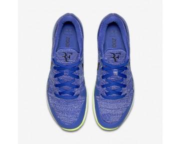 NikeCourt Zoom Vapor Flyknit Hard Court QS Mens Shoes Paramount Blue/Ghost Green/White/Black Style: 916834-403